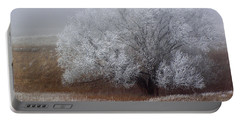 Frost And Fog Portable Battery Charger by Alana Thrower