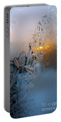Frost Warning Portable Battery Charger by Pamela Clements