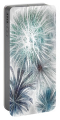 Portable Battery Charger featuring the digital art Frosted Abstract by Methune Hively