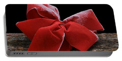 Portable Battery Charger featuring the photograph Frosted Bow by Nikolyn McDonald