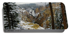 Portable Battery Charger featuring the photograph Frosted Canyon by Steve Stuller