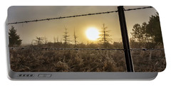 Frosted Fence Portable Battery Charger