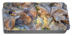Frosted Leaves 8x10 Portable Battery Charger