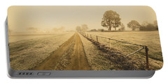 Frosted Road In Outback Australia Portable Battery Charger