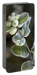 Frosted Snowberries Portable Battery Charger
