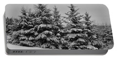 Portable Battery Charger featuring the photograph Frosted Trees by Kathleen Sartoris