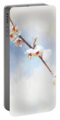 Frosted Witch Hazel Blossoms  Portable Battery Charger