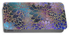 Portable Battery Charger featuring the digital art Frostwork Fantasy by Klara Acel