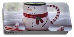 Portable Battery Charger featuring the photograph Frosty Christmas Mug by Kim Hojnacki
