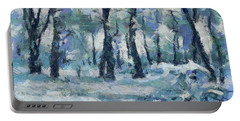 Frosty Day Portable Battery Charger by Dragica Micki Fortuna