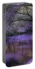 Frosty Lilac Wilderness Portable Battery Charger