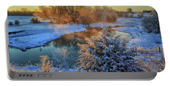 Frosty Morning Portable Battery Charger