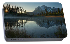 Portable Battery Charger featuring the photograph Frosty Picture Lake by Dan Mihai