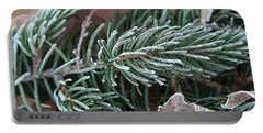 Frosty Pine Branch Portable Battery Charger
