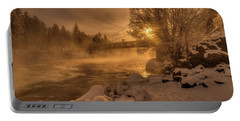 Frosty Riverside Portable Battery Charger