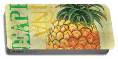 Froyo Pineapple Portable Battery Charger by Debbie DeWitt