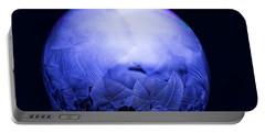 Frozen Bubble Art Blue Portable Battery Charger