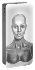 Bald Superficial Woman Mannequin Art Drawing  Portable Battery Charger