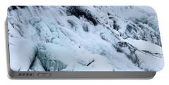 Frozen Gullfoss In Winter Portable Battery Charger