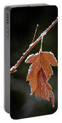 Frozen Leaf - 365-287 Portable Battery Charger by Inge Riis McDonald