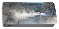 Frozen Misty Morning Portable Battery Charger