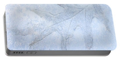 Frozen Oak Leaf Imprint Portable Battery Charger