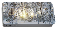 Frozen Trees Portable Battery Charger by Delphimages Photo Creations