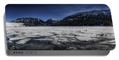 Portable Battery Charger featuring the photograph Frozen Wallowa Lake by Cat Connor
