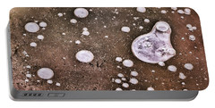 Portable Battery Charger featuring the photograph Frozen Water Drops Abstract by Gary Slawsky
