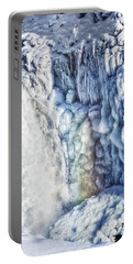 Portable Battery Charger featuring the photograph Frozen Waterfall Gullfoss Iceland by Matthias Hauser