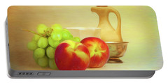Fruit And Dishware Still Life Portable Battery Charger