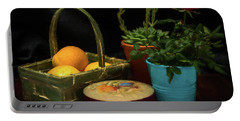 Fruit And Flowers Still Life Digital Painting Portable Battery Charger