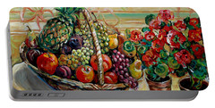 Fruit Basket Portable Battery Charger by Alexandra Maria Ethlyn Cheshire