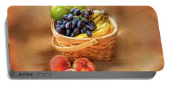 Fruit Basket Portable Battery Charger by Mary Timman