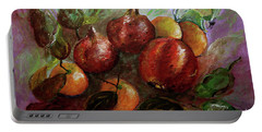 Portable Battery Charger featuring the painting Fruit Dance by Jasna Dragun