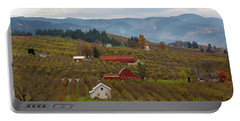 Fruit Orchard Farmland In Hood River Oregon Portable Battery Charger