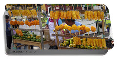Fruit Stand Antigua  Guatemala Portable Battery Charger by Kurt Van Wagner