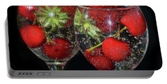 Portable Battery Charger featuring the photograph Fruits In Glass by Elvira Ladocki