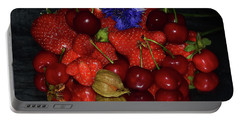 Portable Battery Charger featuring the photograph Fruits With Flower by Elvira Ladocki