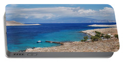 Ftenagia Beach On Halki Portable Battery Charger
