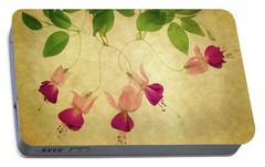 Portable Battery Charger featuring the photograph Fuchsia #1 by Rebecca Cozart