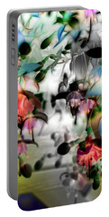 Fuchsia Abstract Portable Battery Charger by Stuart Turnbull