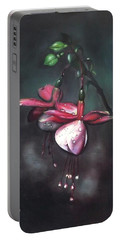 Fuchsia And Dew  Portable Battery Charger
