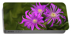 Portable Battery Charger featuring the digital art Fuchsia Flower - Digital Painting by Cristina Stefan