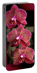 Fuchsia Orchids Oof Portable Battery Charger