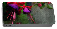 Fuchsia's Beating As One Together -silk Edit Portable Battery Charger