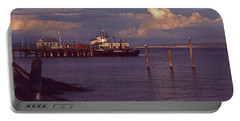 Fuel Dock, Port Townsend Portable Battery Charger by Laurie Stewart