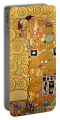 Fulfilment Stoclet Frieze Portable Battery Charger by Gustav Klimt
