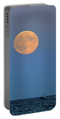 Full Blood Moon Portable Battery Charger by Nancy Landry