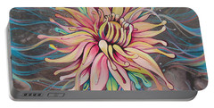 Portable Battery Charger featuring the painting Full Bloom by Shadia Derbyshire